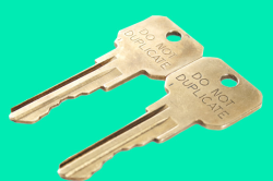 metal copy-protected keys