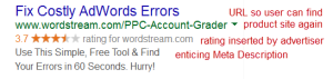 sample ad on Google search page